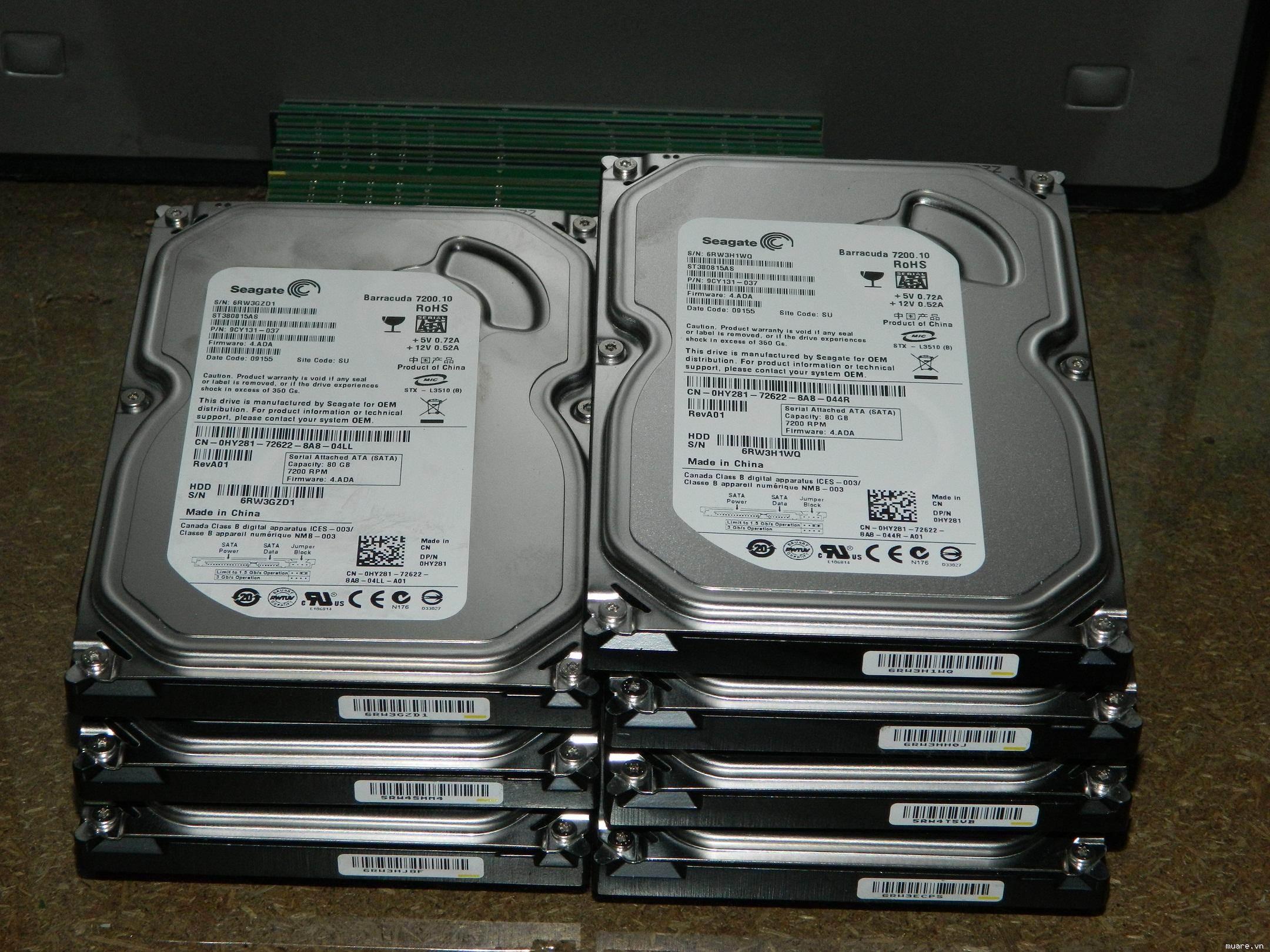 HDD 160GB Seagate sata đã qua sử dụng