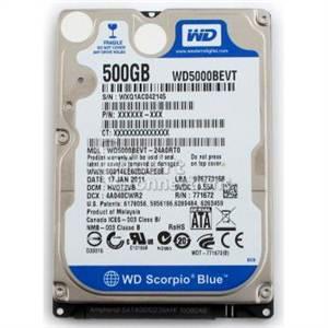 HDD Laptop 500GB Western đã qua sử dụng