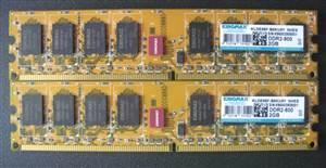Ram DDR2 2Gb Kingmax bo vàng đã qua sử dụng